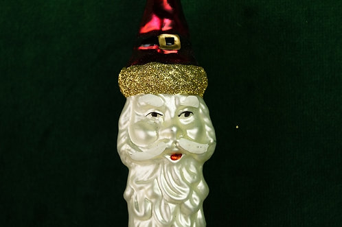 Mundgeblasener, handbemalter LAUSCHA Weihnachtsmannzapfen ca. 17 cm