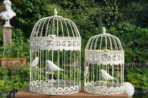 RUND! Romantischer Vogelkäfig im tollen Design! 2 Größen!