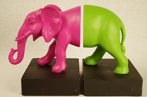 Elefant - Buchstützen im modernen Pop-Art-Design / Bücher