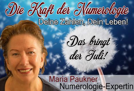 NUMEROLOGIE – die Kraft der Zahlen! Expertin Maria Paukner sagt uns, was der Juli bringt.