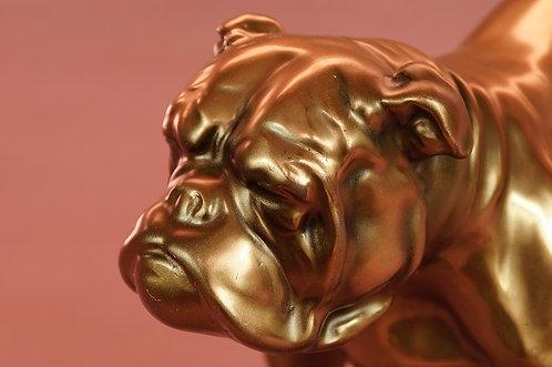 EDLER Bully aus Kunstharz in hochwertiger Bronzeoptik!