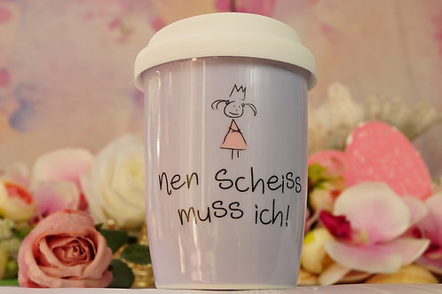 Coffee 2 Go aus Porzellan 250 ml – NEN SCHEISS MUSS ICH!