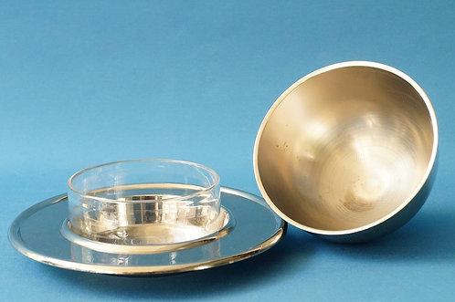 Kaviar-/Butter-/Marmelade-/Saucenbehälter mit Gloche/Glocke/Haube