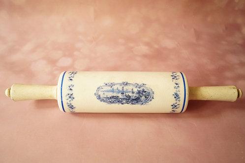 WOW! Original alter Nudelwalker / Teigroller aus Porzellan – ca. 42 cm