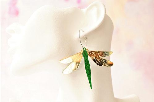 Acryl-Kunst vom Feinsten - Libellen Ohrringe