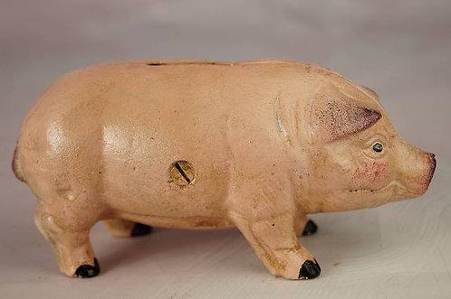 Sparschwein aus Gußeisen –