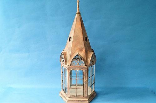 Große 6-eckige Laterne im herrschaftlichen Vintage-Design - Höhe ca. 59 cm!