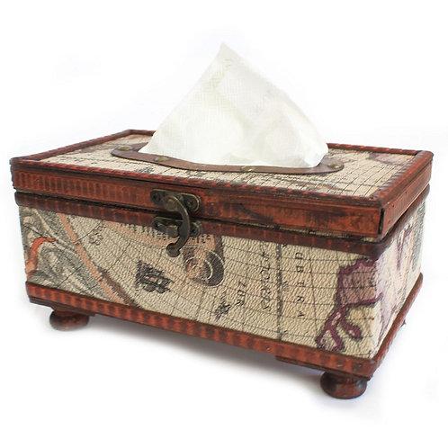 Taschentücherbox!!! Handgefertigte Tissue Box im Landkarten-Design!