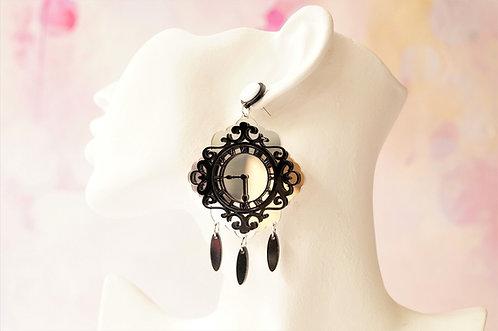 Acryl-Kunst vom Feinsten - Uhren Ohrringe