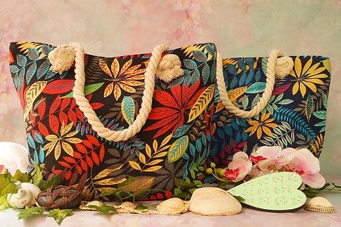 Geniale, robuste Tasche mit weichem Seilgriff – Dschungel ROT