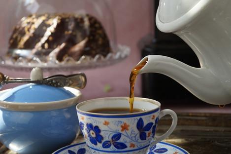 Kaffeezubereitung mit einer Karlsbader Kaffeekanne