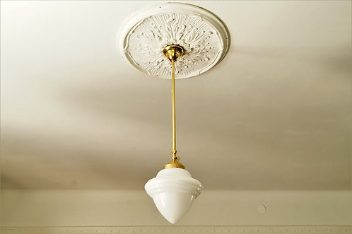 Lampenschirm weiß groß Kegel/Zapfen mit Spitze, 3 Rillen