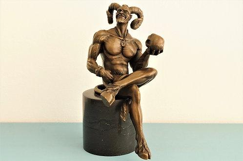 Echte Bronze auf Marmorsockel - Narr von M. Nick ca. 23,5 cm hoch