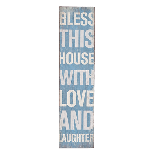 RIESIG! BLESS THIS HOUSE WITH LOVE AND LAUGTHER – geniales Schild 20 x 80 cm