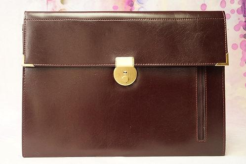 Vintage-Aktentasche im eleganten Design  mit Schlüssel