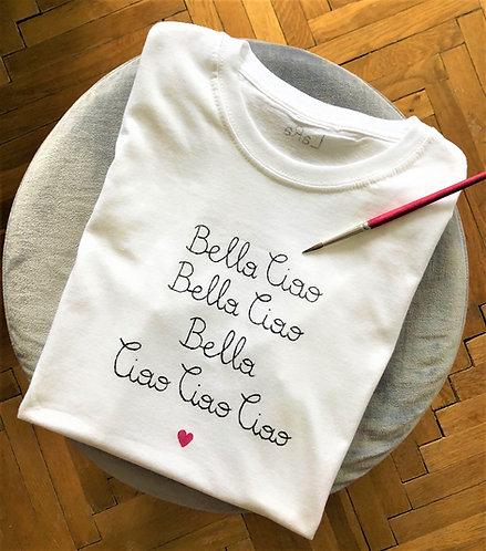 """Statement-Shirt """"Bella Ciao, Bella Ciao"""" in allen Größen"""