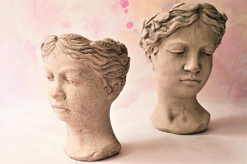 2 Größen! Wunderschöner Blumentopf in Form eines Mädchenkopfes