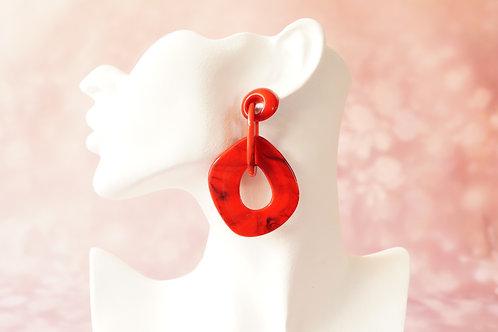 Statement-Ohrring aus angesagtem Acryl – ca. 7,8 cm lang