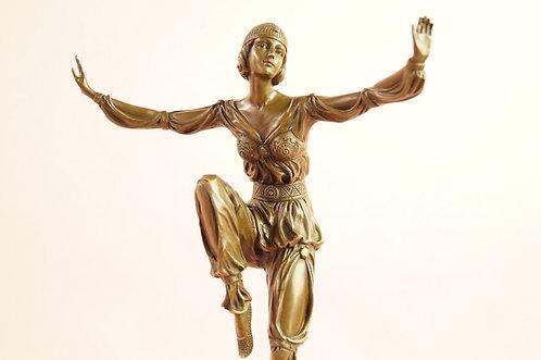 WUNDERSCHÖN! SCHEHERAZADE - Statue aus echter Bronze im Art Déco Stil!