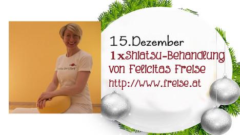 Am 15.12 im Adventkalender: eine Shiatsu-Behandlung von Felicitas Freise!