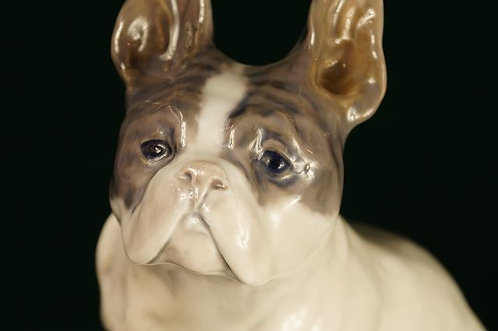 ORIGINAL!!! Royal Copenhagen - Französische Bulldogge Design Knud Kyhn 1908
