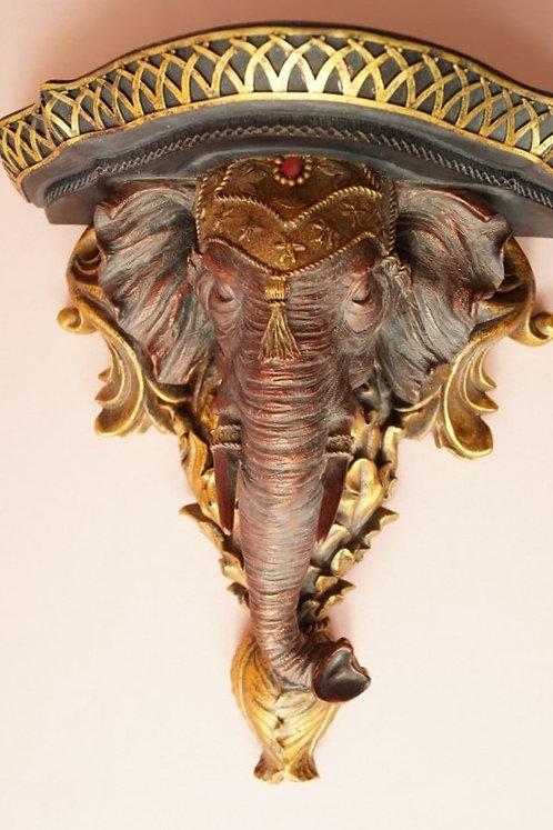 GENIAL! Prunkvolle Konsole mit Elefantenkopf / Regal im Kolonialstil