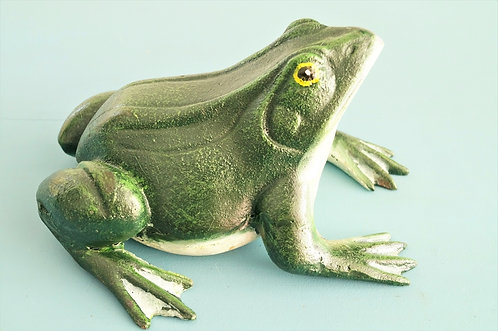 Handbemalter Frosch aus Gusseisen