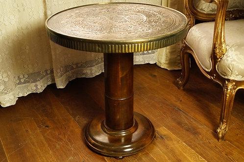 Art Déco - EXKLUSIV & WUNDERSCHÖN! Orientalischer Tisch mit Messingplatte