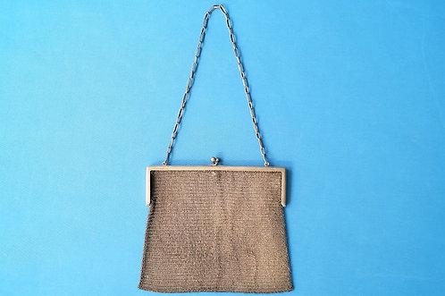 EXQUISIT! 800er Punze - uralte Ketten-Tasche aus echtem Silber