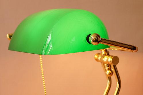 Bankerlampe / Bibliothekenlampe / Schreibtischlampe – hochwertig, schwer & edel!