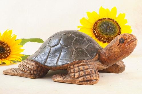 HANDGESCHNITZT! Schildkröte aus tropischen Holz