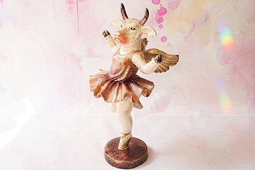 Handbemalte, extravagante Kuh als Ballerina – Höhe ca. 33 cm