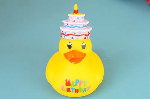 HAPPY BIRTHDAY! - Geniale Quietscheente zum Geburtstag! ca. 10 cm! Badeente