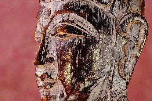 50 cm!!!HANDGESCHNITZT! Große Buddhafigur aus nachhaltigem Albesiaholz