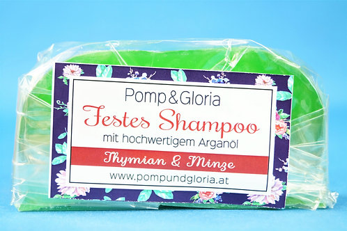 Festes Shampoo - Thymian Minze speziell bei Haarausfall und trockener Kopfhaut