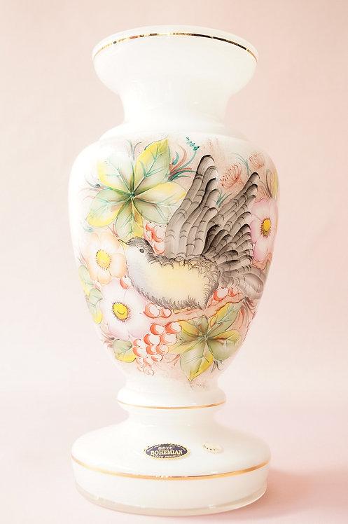MID-CENTURY! ORIGINAL handbemalte KRYF BOHEMIAN Kristallglas