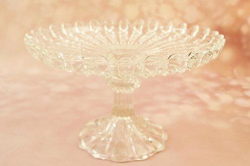 Alte, geniale Glasetagere für Gebäck oder Obst