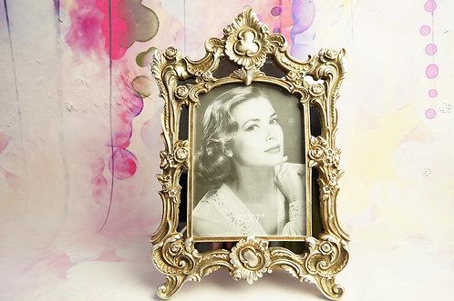 Prunkvoller Stehrahmen silber für Fotos & Bilder im Rokoko-Design