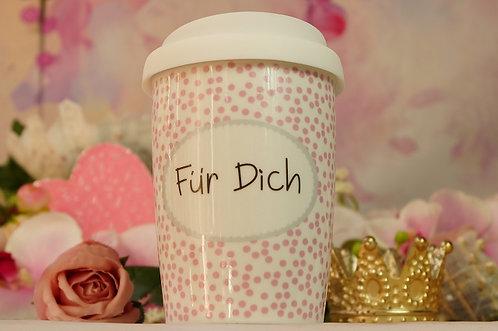 Coffee 2 Go aus Porzellan 250 ml – FÜR DICH