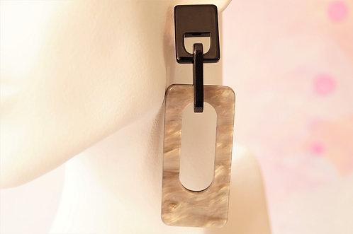 Genial! Fashion Ohrring aus Acryl - ca. 8,5 x 2,5 cm
