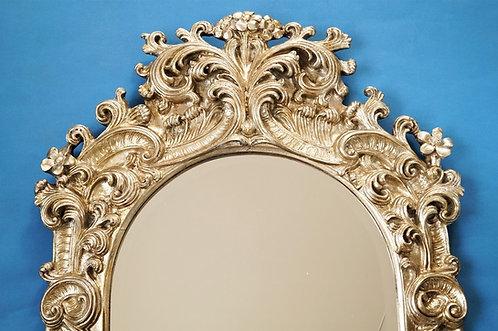 Großer, opulenter Spiegel aus Kunstharz im Barock-Design mit Engeln – Höhe 117cm