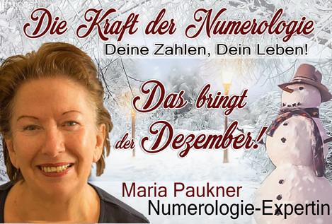 NUMEROLOGIE – die Kraft der Zahlen! Expertin Maria Paukner sagt uns, was der Dezember bringt.