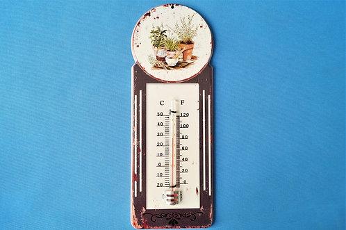 Thermometer aus Metall im Cottage-Stil