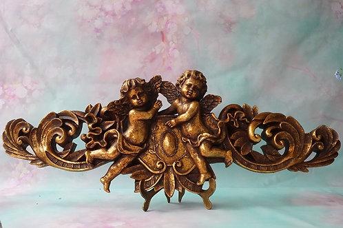 SUPRAPORTA im Florentiner Stil! Geniales Relief mit Engeln aus Kunstharz!