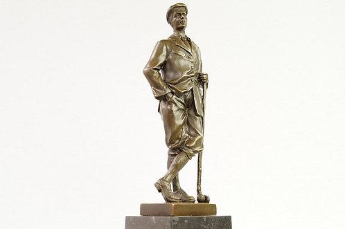 ORIGINAL BRONZE! Golfspieler im Design des Art Déco – ca. 32 cm Höhe