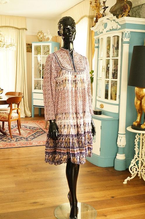 Ein Original aus den 70er Jahren – Boho-Kleid aus Baumwolle – Gr. 38