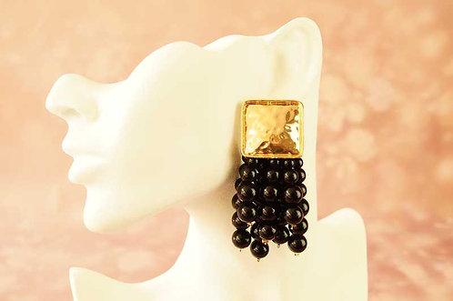 Statement-Ohrring mit Acryl-Perlen – ca. 8 cm lang