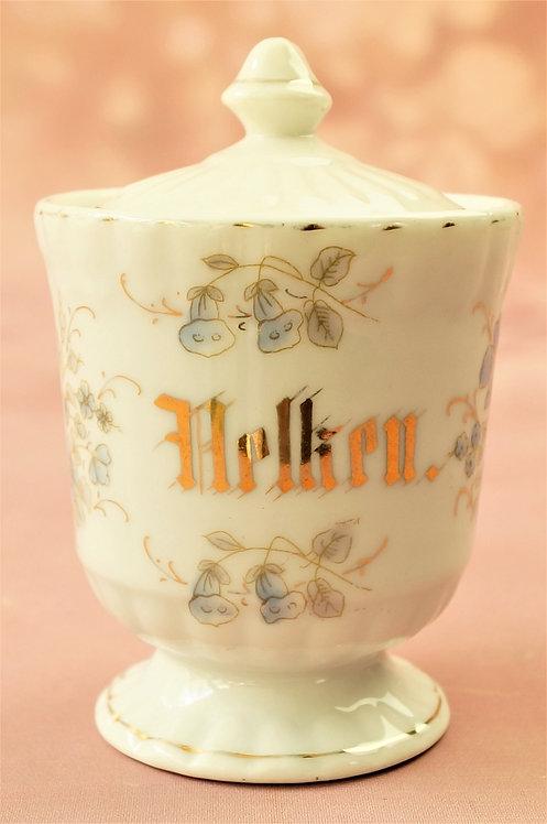 Alter, sehr schöner handbemalter Behälter für Gewürz-Nelken