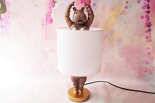 Extravagante Nilpferdballerina als Tischlampe – Höhe ca. 44 cm