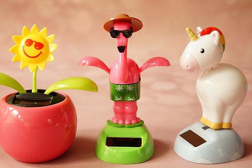 Wackelnder Solar Flamingo